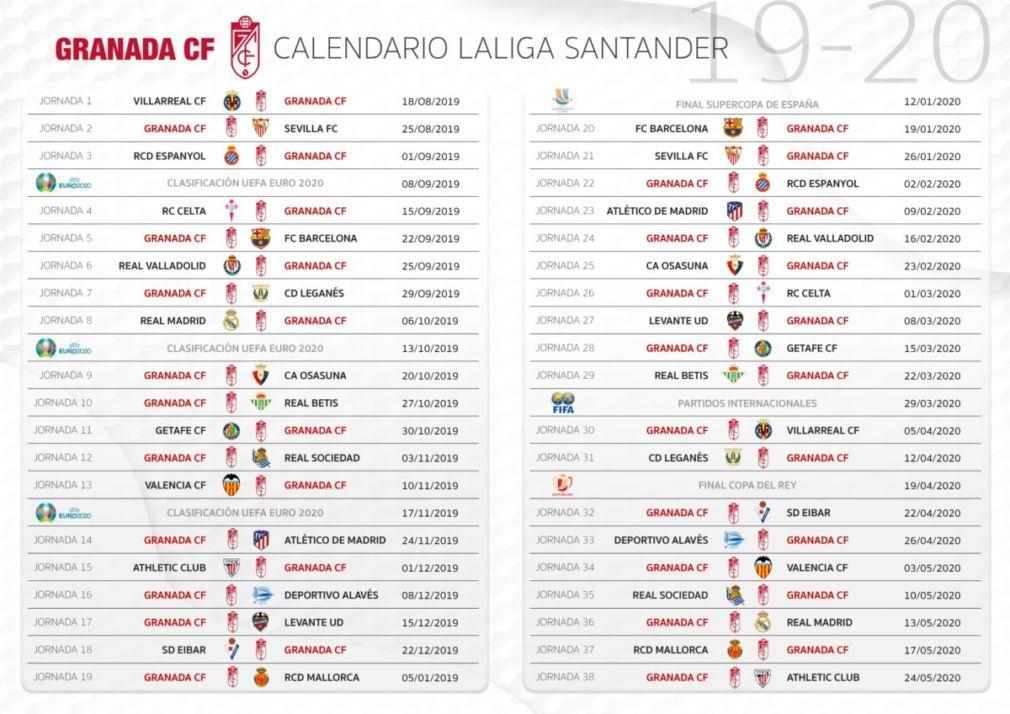 Calendario completo La Liga Santander 2020